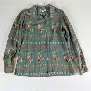 Vintage Lady Reiner Cowgirl Couture Western Blouse